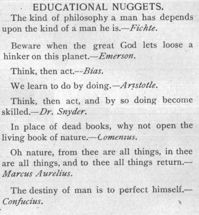 Quotes from thinkers